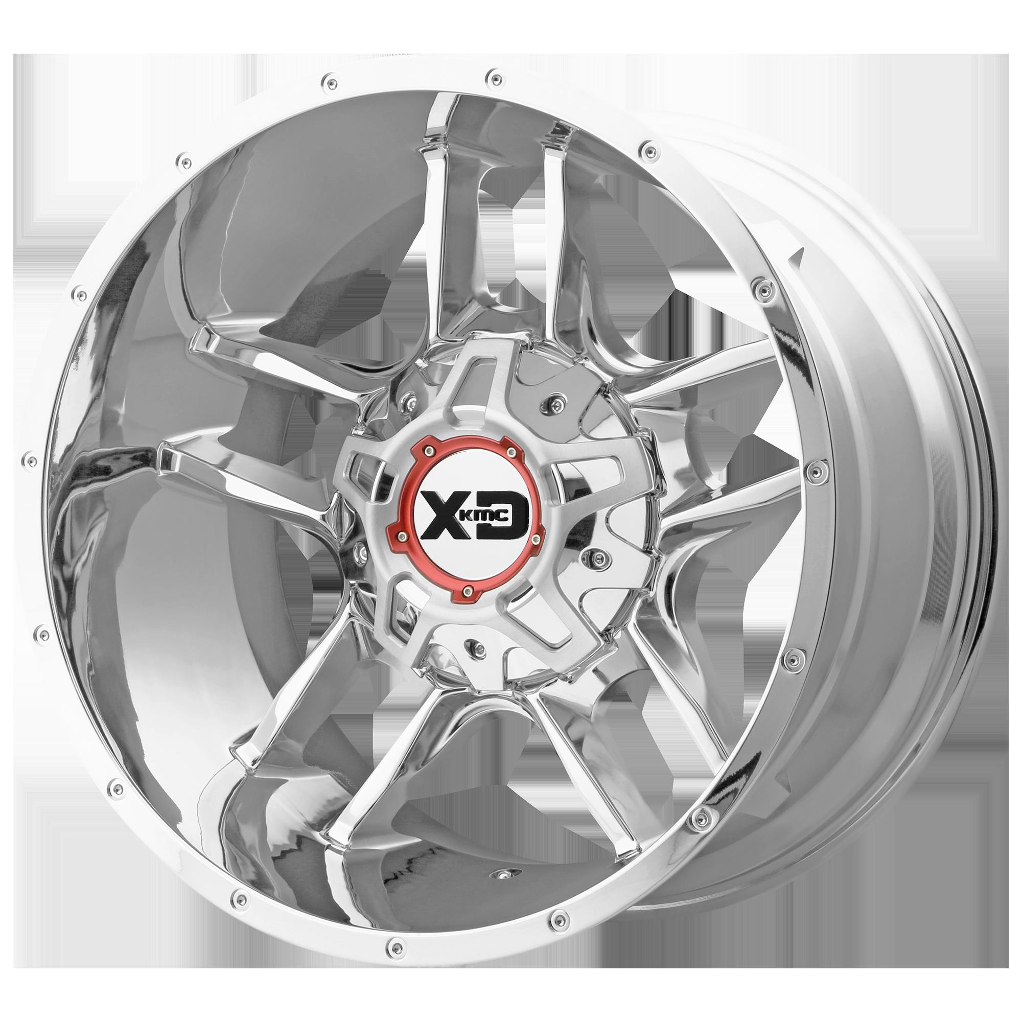 XD SERIES XD839 CLAMP hliníkové disky 12x20 6x135 ET-44 Chrome