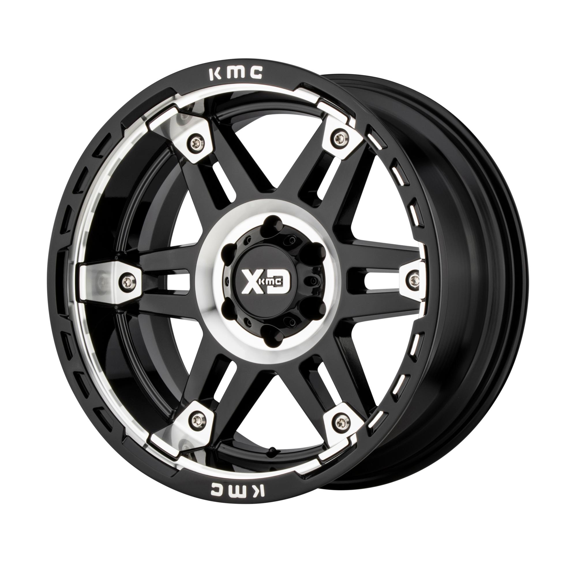 XD SERIES XD840 SPY II hliníkové disky 8x17 6x139,7 ET18 Gloss Black Machined