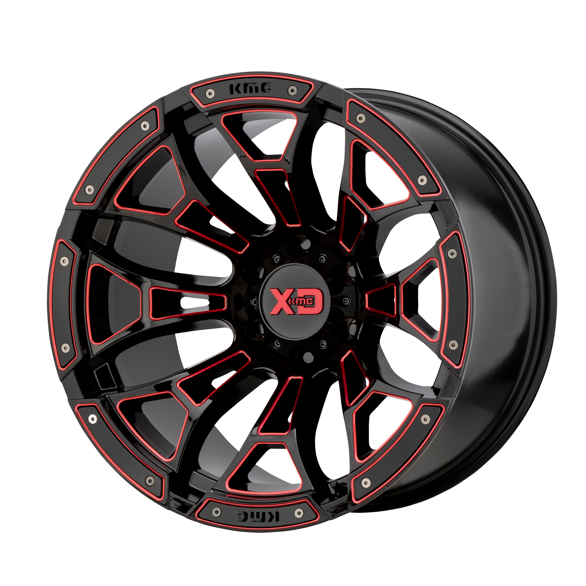 XD SERIES XD841 BONEYARD hliníkové disky 10x20 6x135 ET-18 Gloss Black Milled With Red Tint