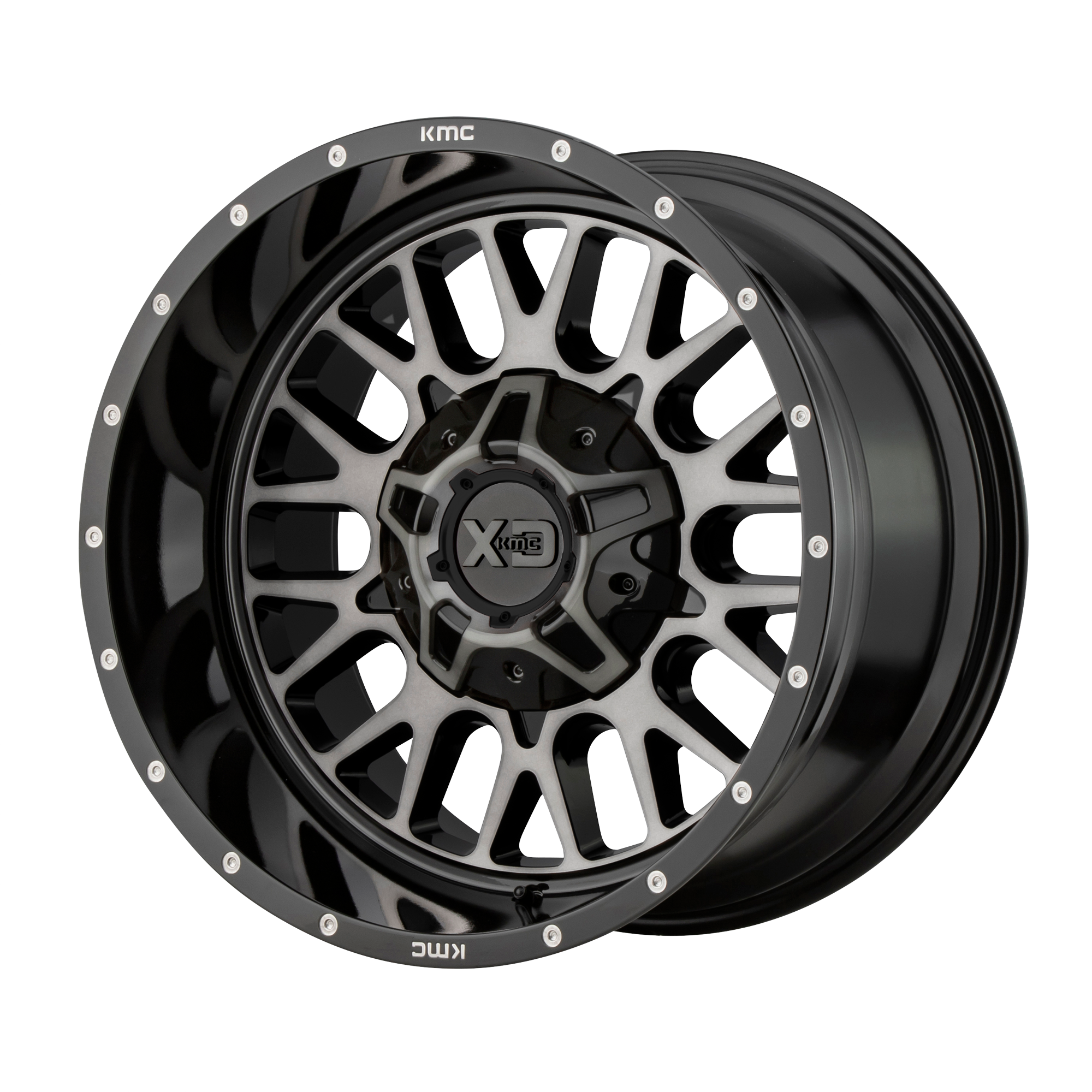 XD SERIES XD842 SNARE hliníkové disky 12x20 5x139,7 ET-44 Gloss Black Gray Tint