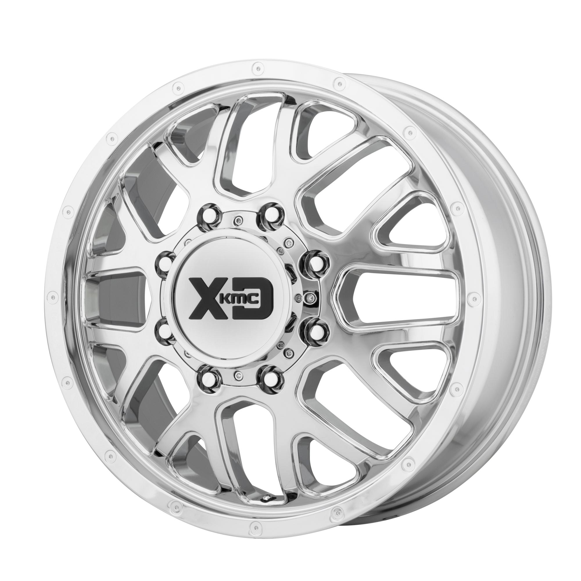 XD SERIES XD843 GRENADE DUALLY hliníkové disky 6,5x17 8x165,1 ET111 Chrome - Front