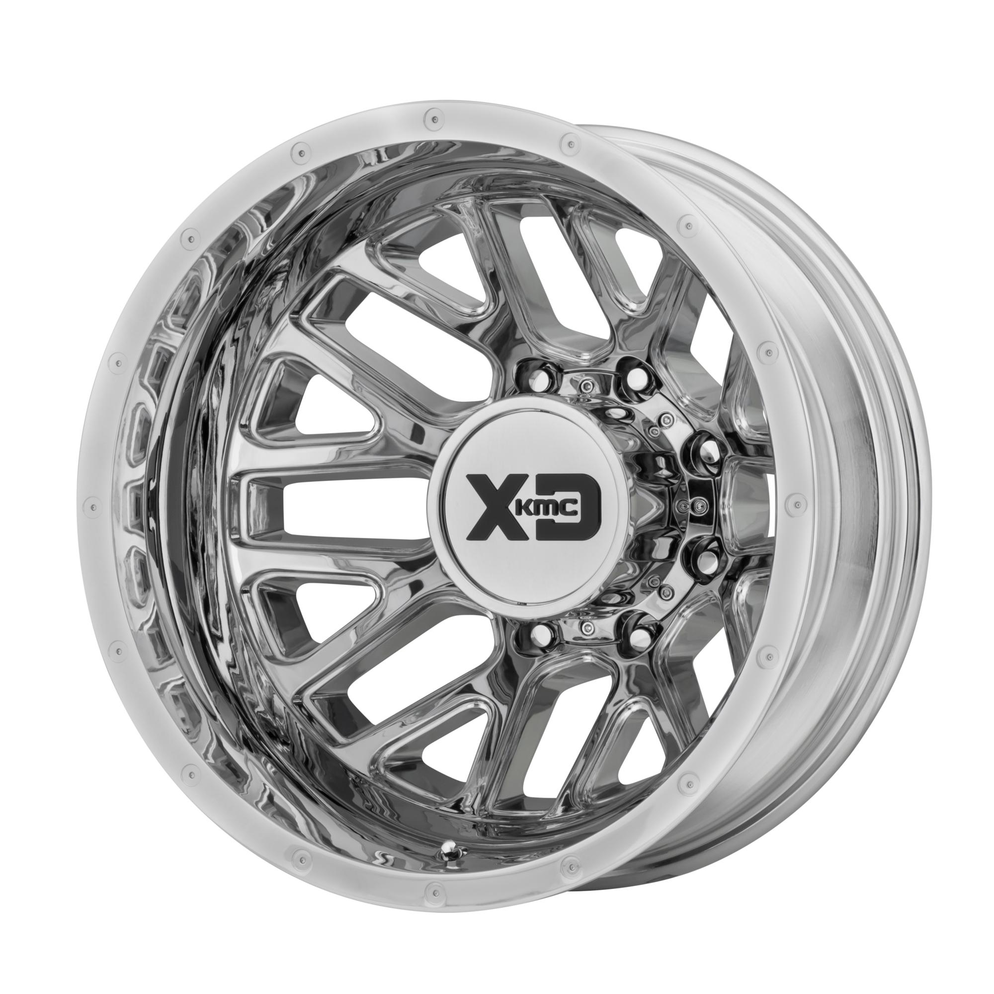 XD SERIES XD843 GRENADE DUALLY hliníkové disky 6,5x17 8x210 ET-140 Chrome - Rear