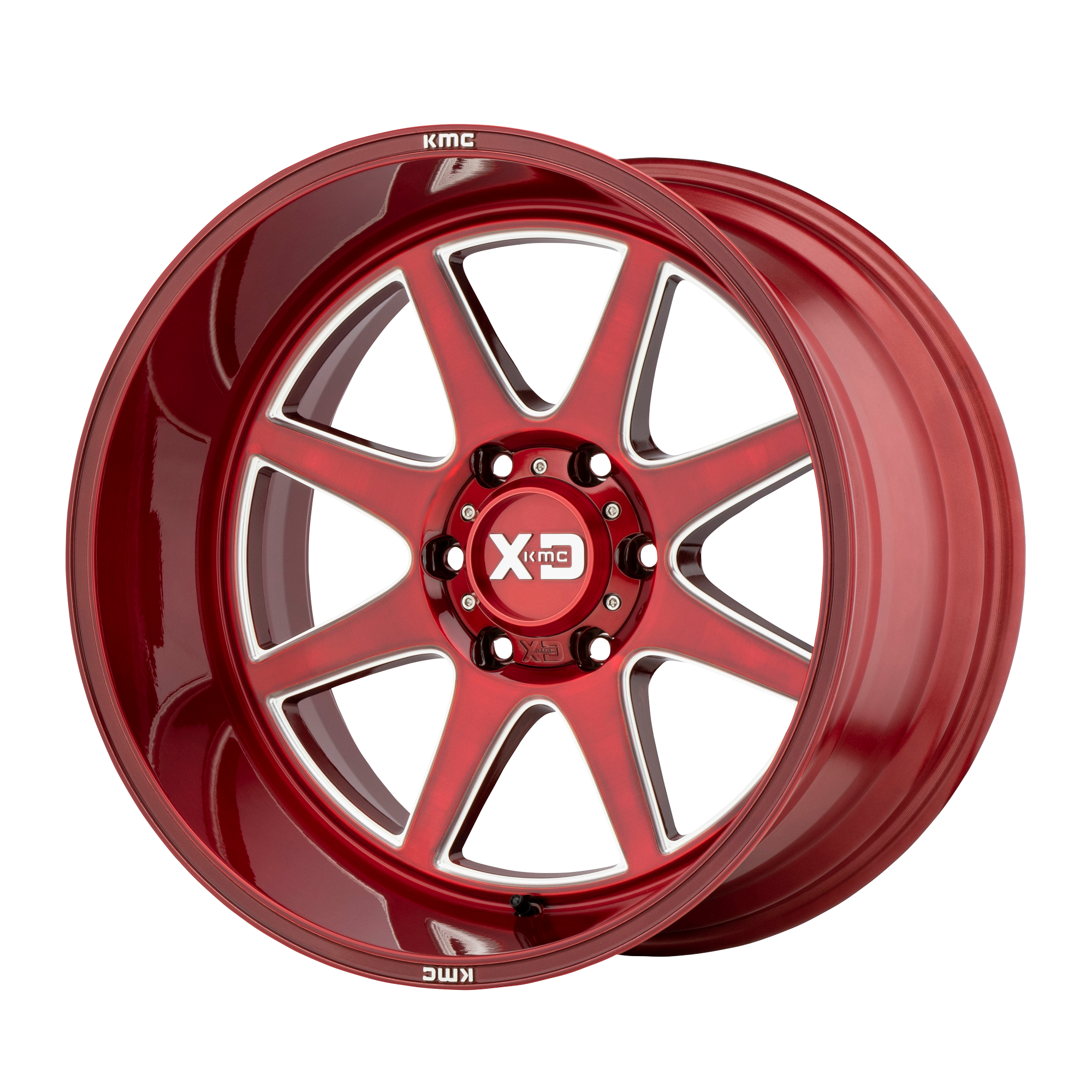 XD SERIES XD844 PIKE hliníkové disky 12x20 8x165,1 ET-44 Brushed Red With Milled Accent