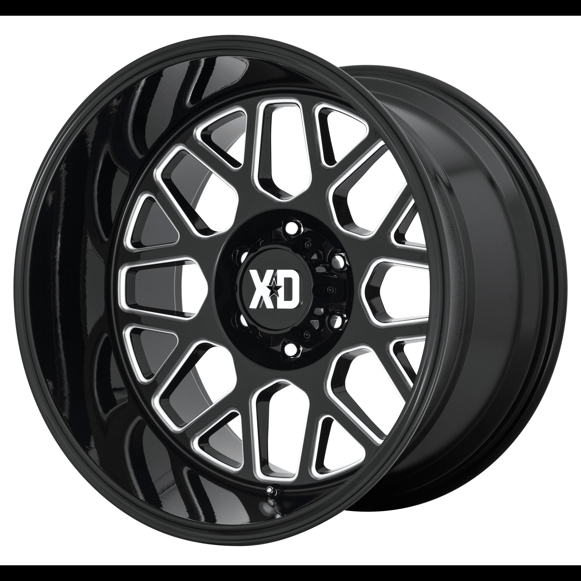 XD SERIES XD849 GRENADE 2 hliníkové disky 10x20 5x127 ET-18 Gloss Black Milled