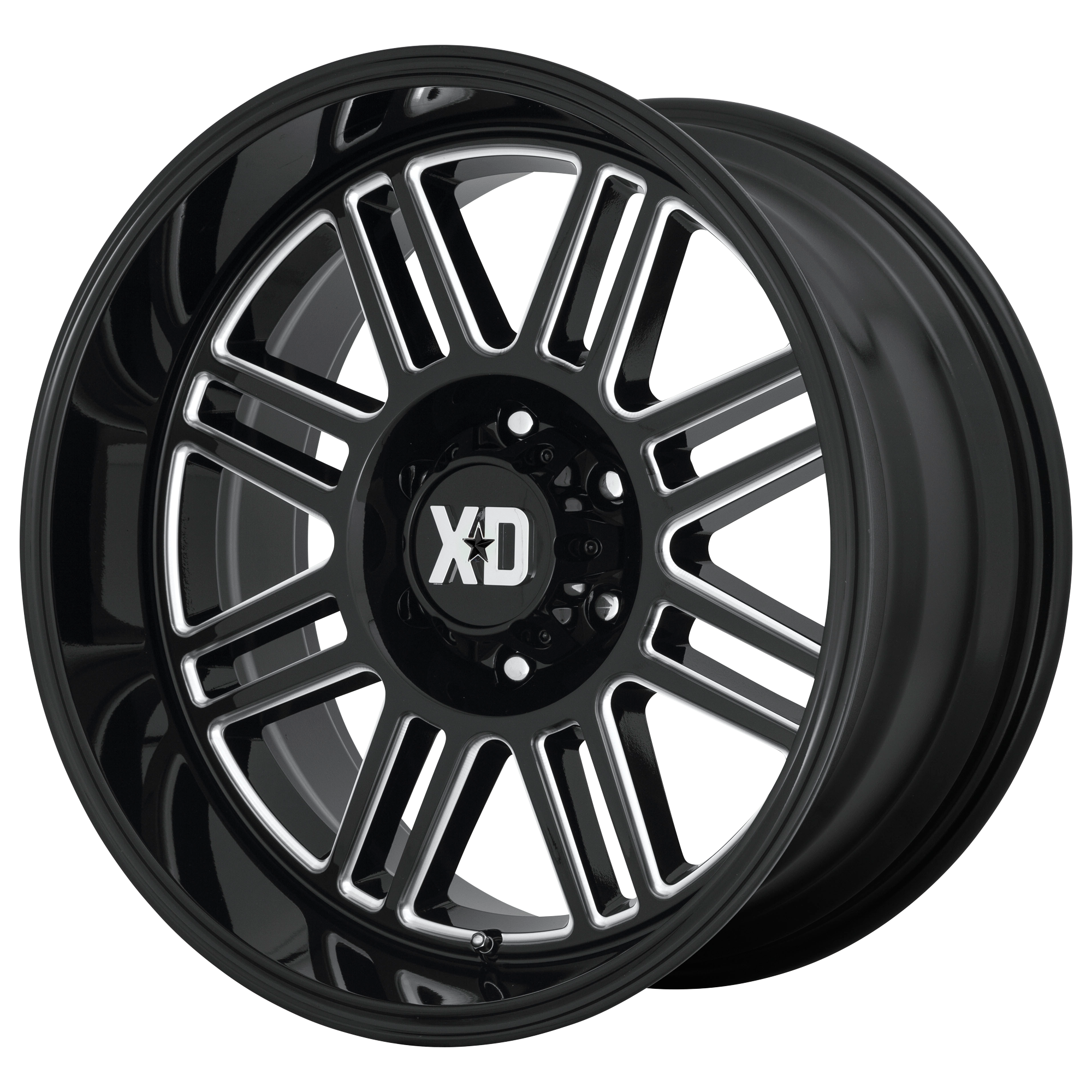 XD SERIES XD850 CAGE hliníkové disky 9x20 8x180 ET0 Gloss Black Milled